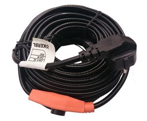 Kabel grzewczy przewód grzejny 14m z termostatem KERBL