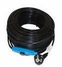 Kabel grzewczy przewód grzejny 48m z termostatem NIEBIESKI