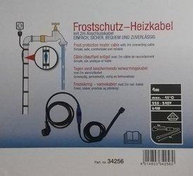 Kabel grzewczy przewód grzejny 4m z termostatem NIEBIESKI / HORIZONT