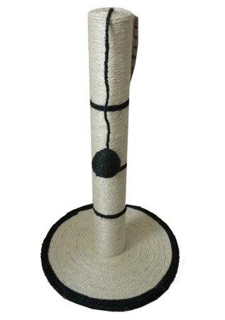 Drapak na podstawie H50-FI30-FI6,5 cm z Piłeczką Kocimiętką Czarny  NIEDOSTĘPNY