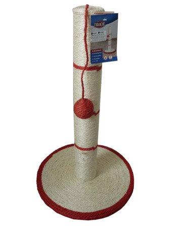 Drapak sizalowy na podstawie H50-FI30-FI6,5 cm z Piłeczką Kocimiętką Czerwony