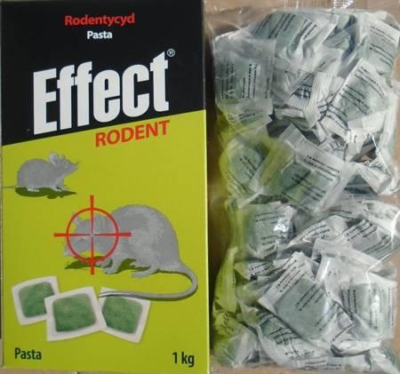 Effect RODENT * Pasta do zwalczania gryzoni - 1kg (karton/zielna)