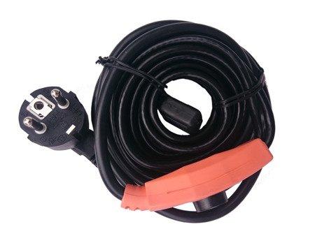 Kabel grzewczy przewód grzejny 2m z termostatem KERBL