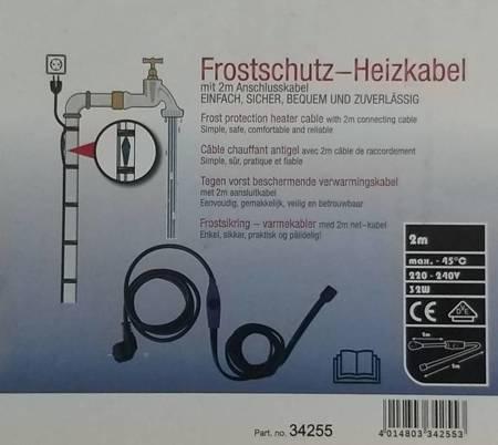 Kabel grzewczy przewód grzejny 2m z termostatem NIEBIESKI / HORIZONT