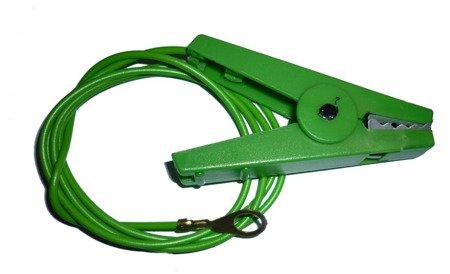 Kabel z krokodylkiem zielony