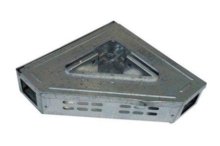 Pułapka NAROŻNA Sekwencyjna metalowa 2 wejściowa  z szybką