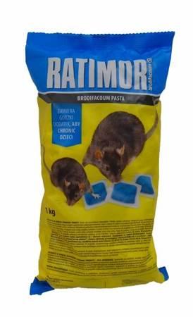 Ratimor BRODIFACOUM Pasta do zwalczania gryzoni - 1kg (folia/niebieska)