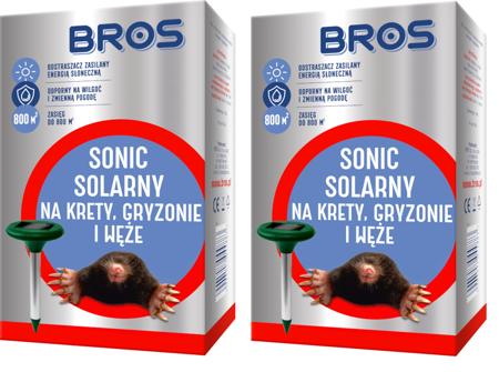 SONIC SOLARNY Bros solarny odstraszacz - 2 sztuki