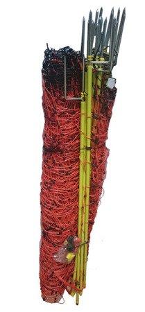 Siatka elektryczna dla owiec 50m 108cm, pomarańczowa podwójny szpic
