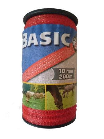Taśma BASIC 200m 10mm 4x0,16mm niro; 60kg pomarańczowa