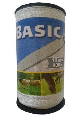 Taśma BASIC 200m 10mm biała
