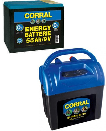 Zestaw elektryzator Corral B170  i bateria 55ah Energy