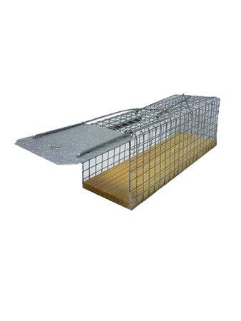 Żywołapka na podstawce na szczury 28x9x9,5cm